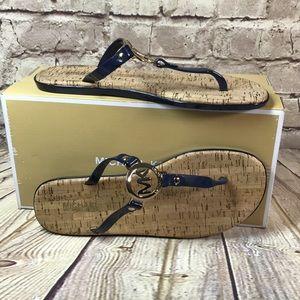 MICHAEL KORS Sandals CHARM JELLY CORK Size 8